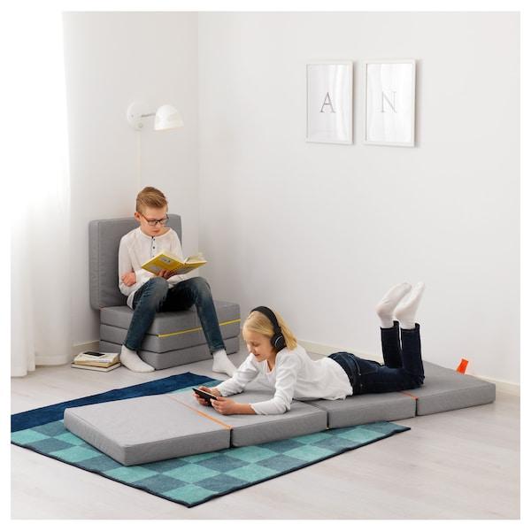 SLÄKT Pufe/colchão dobrável