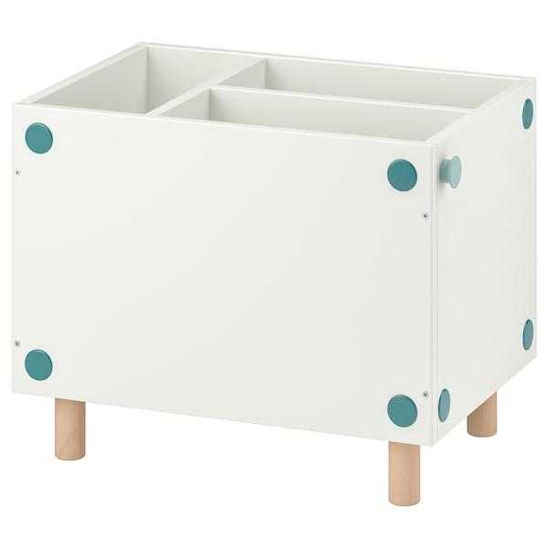SMUSSLA Mesa de cabeceira/estante, branco