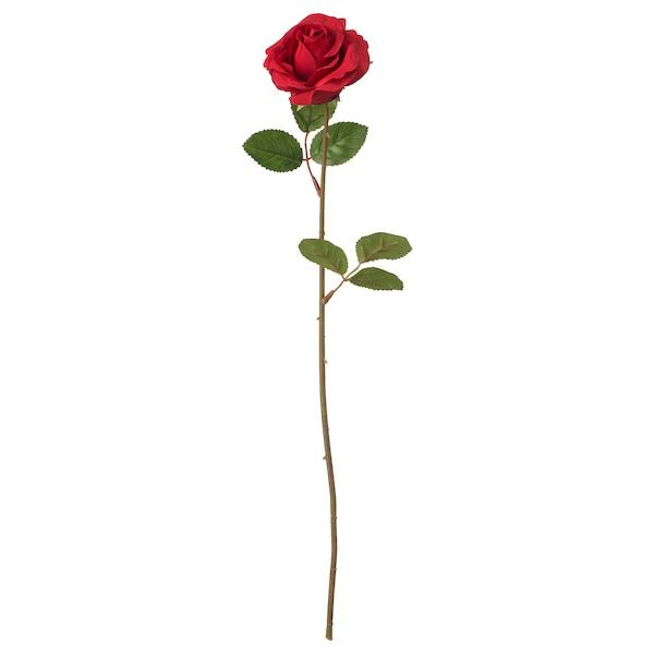 SMYCKA Flor artificial, Rosa/verm, 52 cm