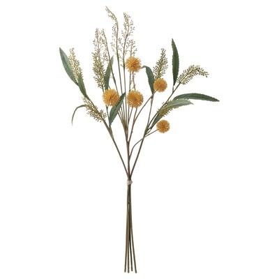 SMYCKA Ramo de flores artificiais, interior/exterior amarelo, 60 cm