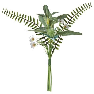 SMYCKA Ramo de flores artificiais, interior/exterior verde, 31 cm