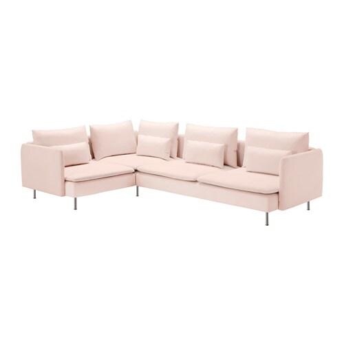 s derhamn sof de canto 4 lugares samsta rosa claro ikea. Black Bedroom Furniture Sets. Home Design Ideas