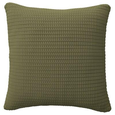 SÖTHOLMEN Capa almofada, int/ext, bege-verde, 50x50 cm