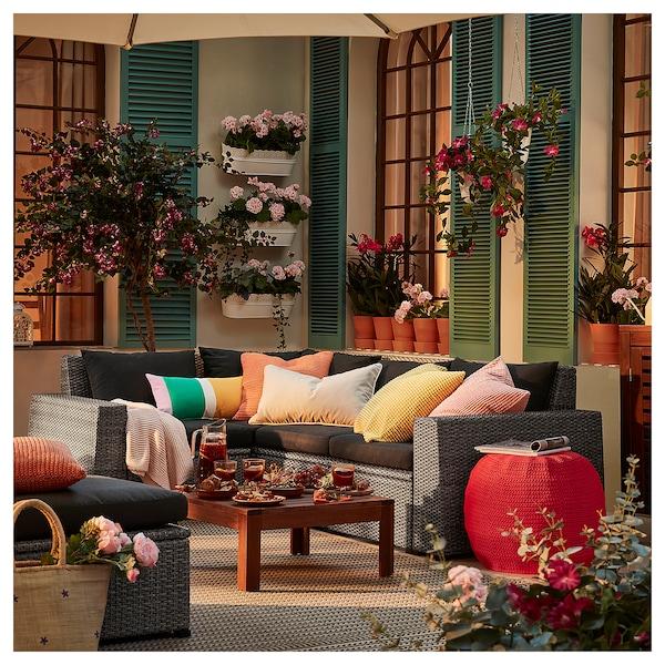 SOLLERÖN sofá canto 3lug modular, ext cinz esc/Hållö preto 82 cm 82 cm 225 cm 162 cm 54 cm 40 cm