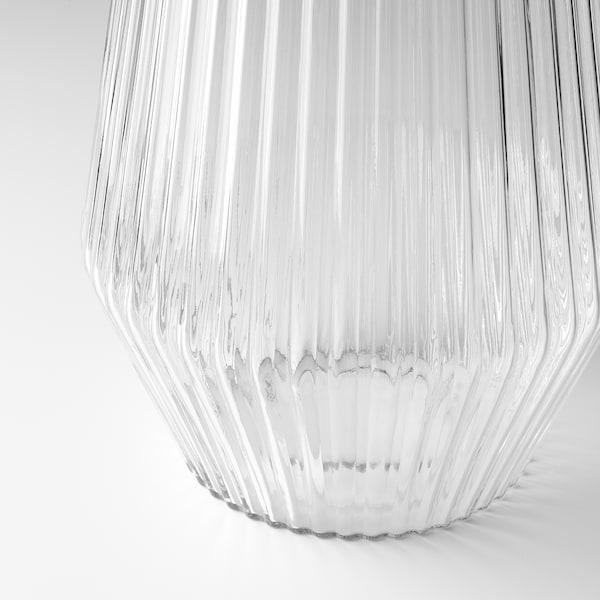 SOLVINDEN candeeiro de pé LED, solar exterior/vidro transparente 2 Lumen 21 cm 42 cm