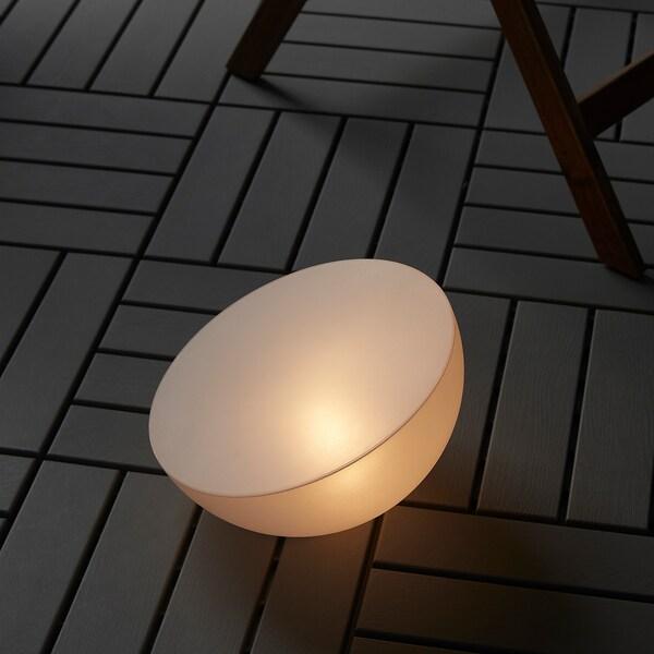SOLVINDEN iluminação LED energia solar exterior/semiesfera branco 2 Lumen 18 cm 27 cm