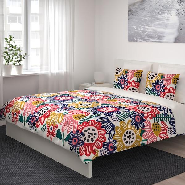 IKEA SOMMARASTER Capa de edredão e 2 fronhas