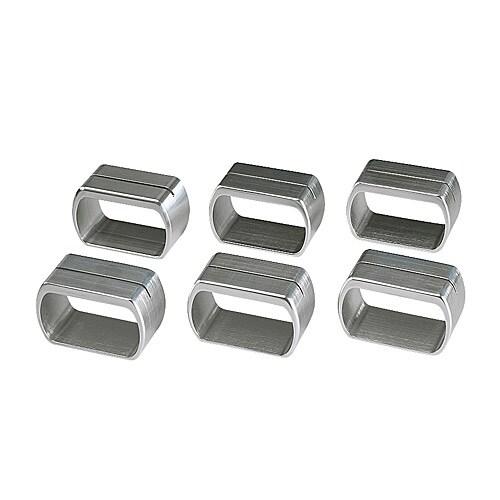 SPALT Argola guardanapo/porta-cartões, alumínio Comprimento: 5 cm Quantidade por pacote: 6 unidades
