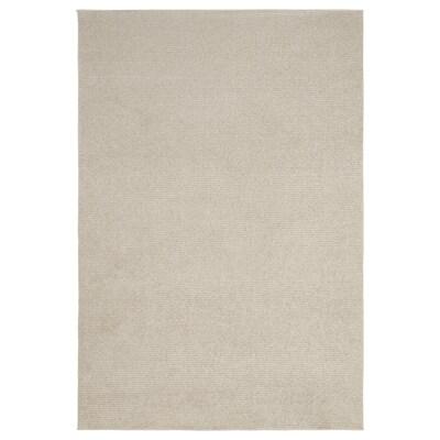 SPORUP Tapete pelo curto, bege claro, 133x195 cm