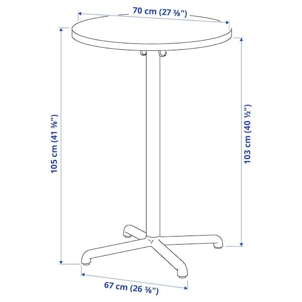 STENSELE Mesa alta, antracite/antracite, 70 cm