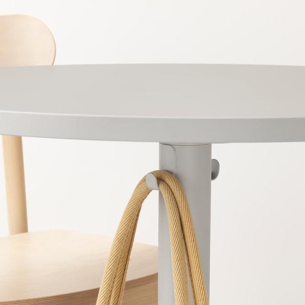 STENSELE / RÖNNINGE Mesa e 2 cadeiras, cinz clr/cinz clr bétula, 70 cm
