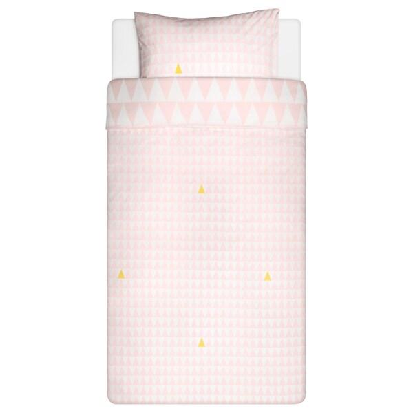 STILLSAMT Capa de edredão e fronha, rosa claro, 150x200/50x60 cm