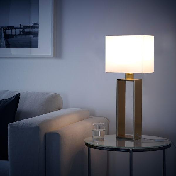 STILTJE candeeiro de mesa branco-bege/bronze 13 W 24.5 cm 59 cm 1.9 m