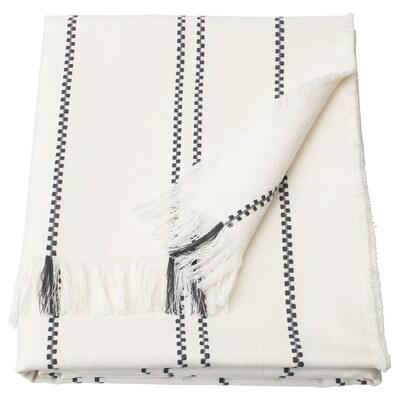 STINAMAJ Manta, branco/cinz esc, 130x170 cm
