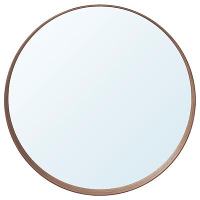STOCKHOLM Espelho, chapa de nogueira, 60 cm