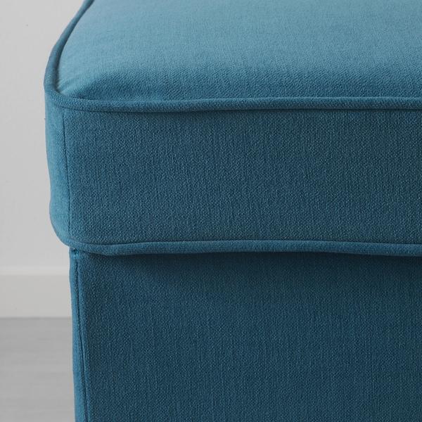 STOCKSUND Banco, Ljungen azul/castanho claro/madeira