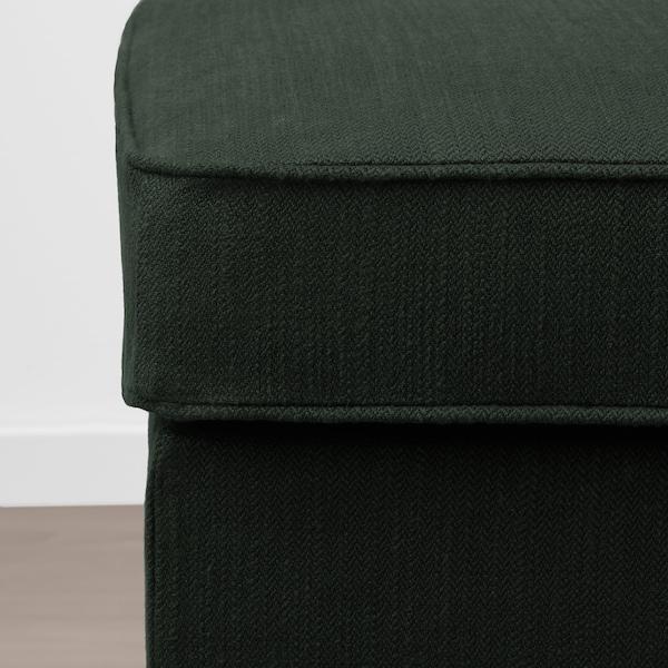 STOCKSUND Banco, Nolhaga verde escuro/castanho claro/madeira