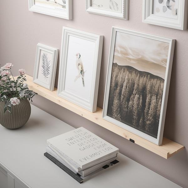 STÖDSTORP Prateleira p/molduras, velatura branca, 115 cm
