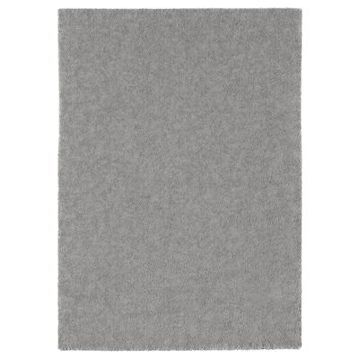 STOENSE Tapete pelo curto, cinz, 170x240 cm