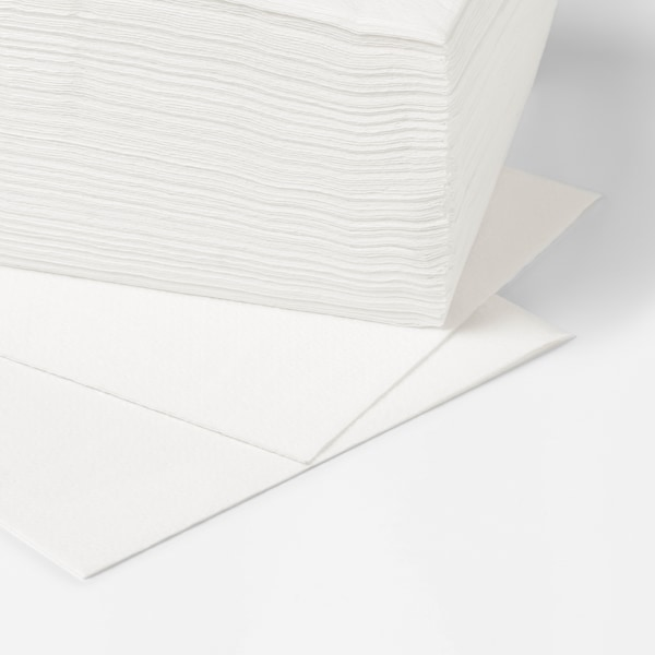 STORÄTARE Guardanapo de papel, branco, 30x30 cm