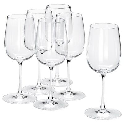 STORSINT copo de vinho branco vidro transparente 20 cm 32 cl 6 unidades