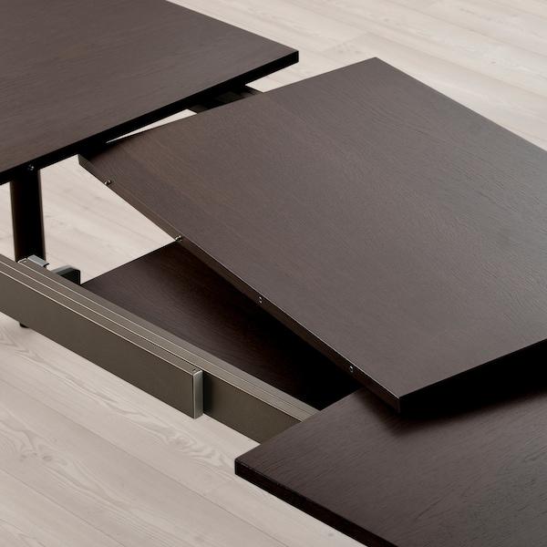STRANDTORP Mesa extensível, castanho, 150/205/260x95 cm