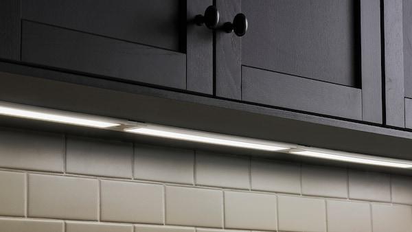 STRÖMLINJE Iluminação LED p/bancada, branco, 60 cm