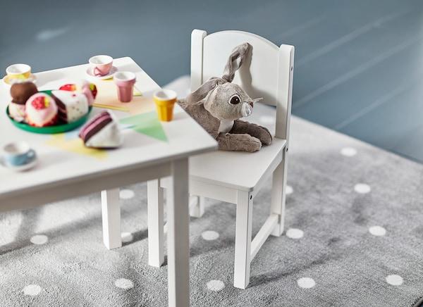 SUNDVIK Mesa p/criança, branco, 76x50 cm