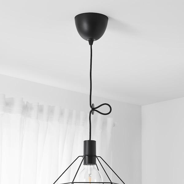 SUNNEBY Conjunto de cabos, preto têxtil, 1.8 m