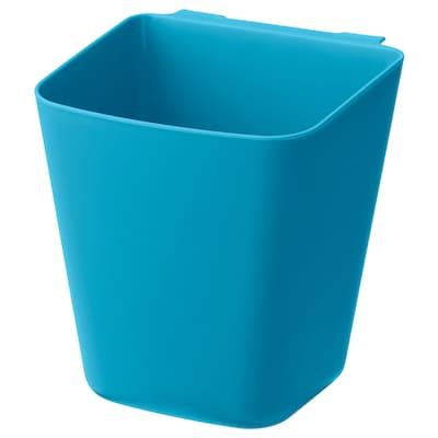 SUNNERSTA Recipiente, azul, 12x11 cm