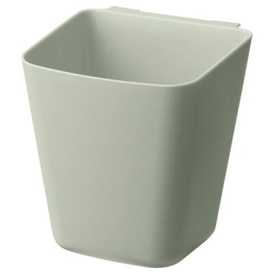 SUNNERSTA Recipiente, verde pálido, 12x11 cm
