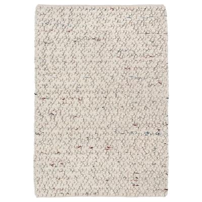 SVÄRDBORG Tapete, tecelagem plana, feito à mão branco-bege/multicor, 133x195 cm