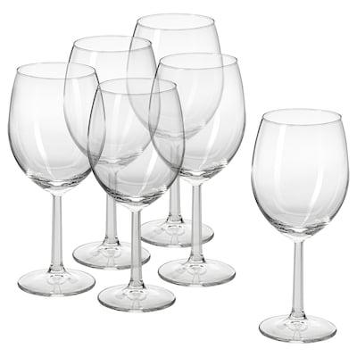 SVALKA Copo de vinho, vidro transparente, 44 cl