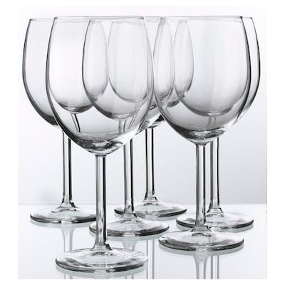 SVALKA copo de vinho vidro transparente 18 cm 30 cl 6 unidades