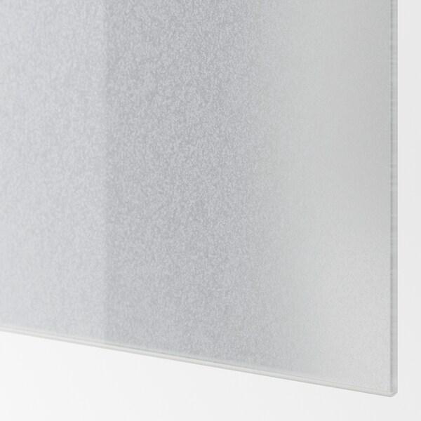 SVARTISDAL 4 painéis p/estr portas deslizantes, branco efeito papel, 100x201 cm