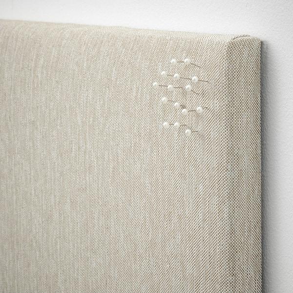 SVENSÅS Quadro p/mensagens c/pinos, bege, 60x60 cm