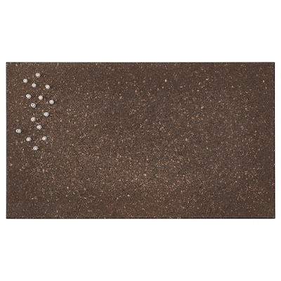 SVENSÅS Quadro p/mensagens c/pinos, cortiça castanho escuro, 35x60 cm
