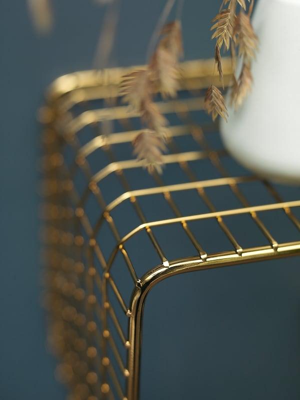 SVENSHULT Estante de parede, dourado, 60x20 cm