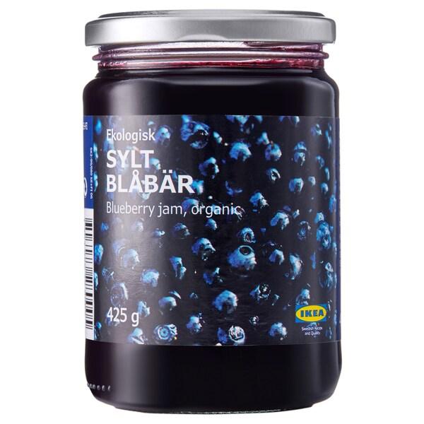 SYLT BLÅBÄR Compota de mirtilo, biológico, 425 gr