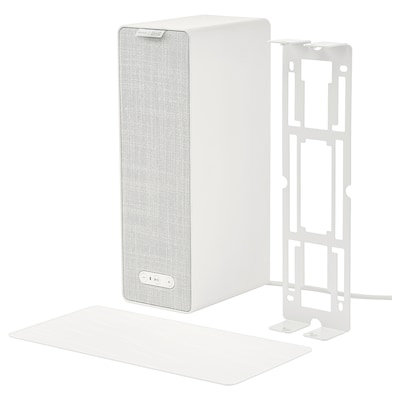 SYMFONISK / SYMFONISK Coluna Wi-Fi c/suporte, branco, 31x10x15 cm