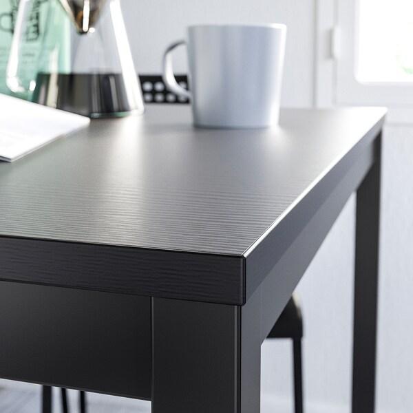 TÄRENDÖ / ADDE Mesa e 4 cadeiras, preto, 110 cm