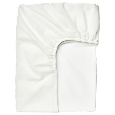 TAGGVALLMO Lençol de baixo ajustável, branco, 90x200 cm