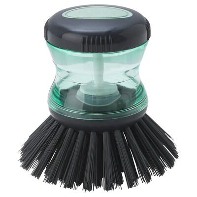 TÅRTSMET Escova p/lavar loiça c/dispensador, verde
