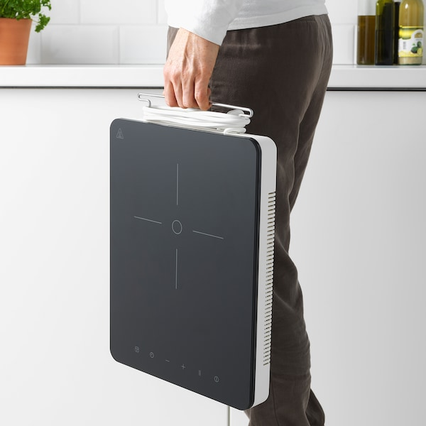 TILLREDA placa indução portátil branco 30 cm 38.5 cm 5.4 cm 3.00 kg