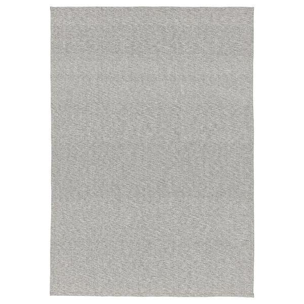 TIPHEDE tapete, tecelagem plana cinz/branco 220 cm 155 cm 2 mm 3.41 m² 700 gr/m²