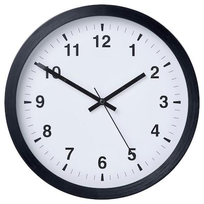 TJALLA Relógio de parede, preto, 28 cm