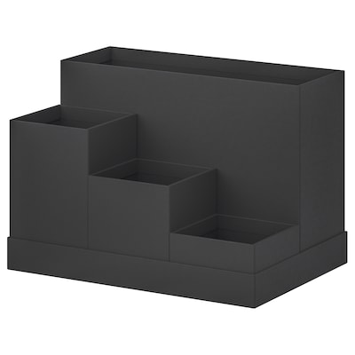 TJENA Organizador p/secretária, preto, 18x17 cm