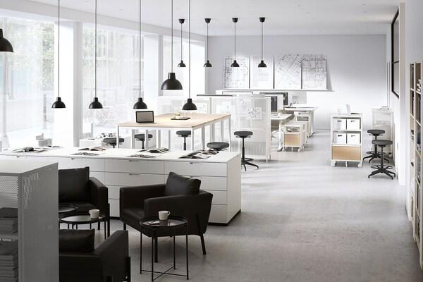 TOMMARYD Mesa, chapa de carvalho c/velatura branca/branco, 130x70x105 cm