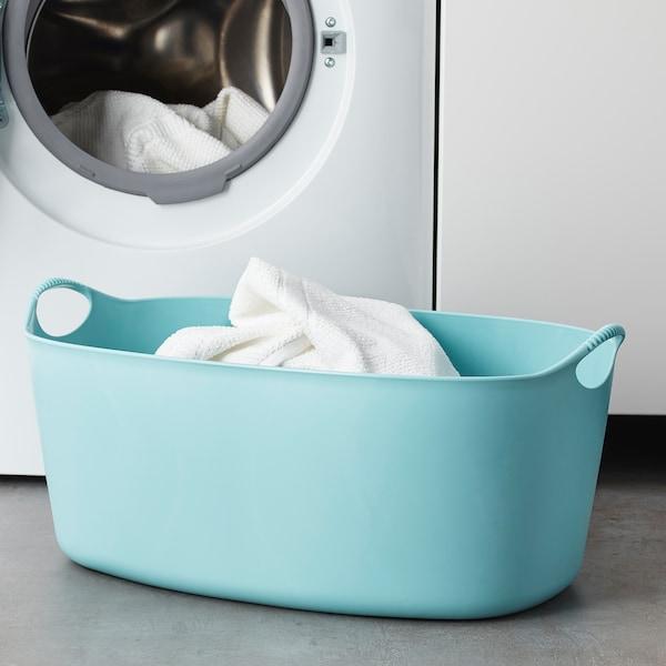 TORKIS Cesto p/roupa suja flex, int/ext, azul, 35 l