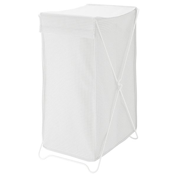 TORKIS Cesto roupa suja, branco/cinzento, 90 l